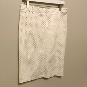 Pink + Sophie White Pencil Skirt Size Large